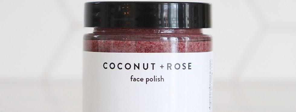COCONUT + ROSE // face polish