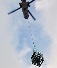 Чиллеры Airedale были доставлены в офисное здание вертолетом