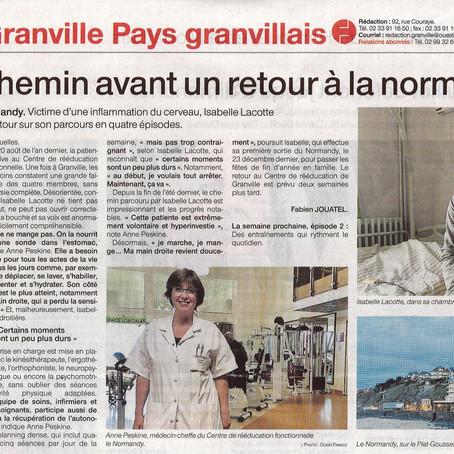 Un long chemin avant un retour à la normale........ (patiente du CRRRF Le Normandy)