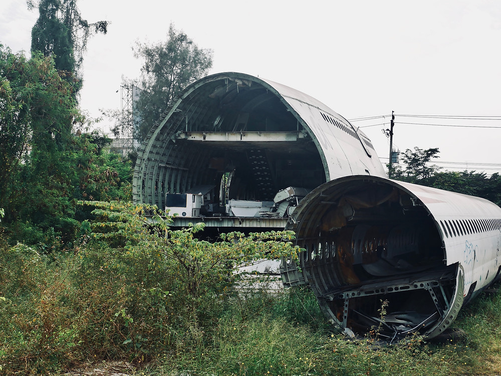 Airplane Graveyard, Bangkok, Thailand.