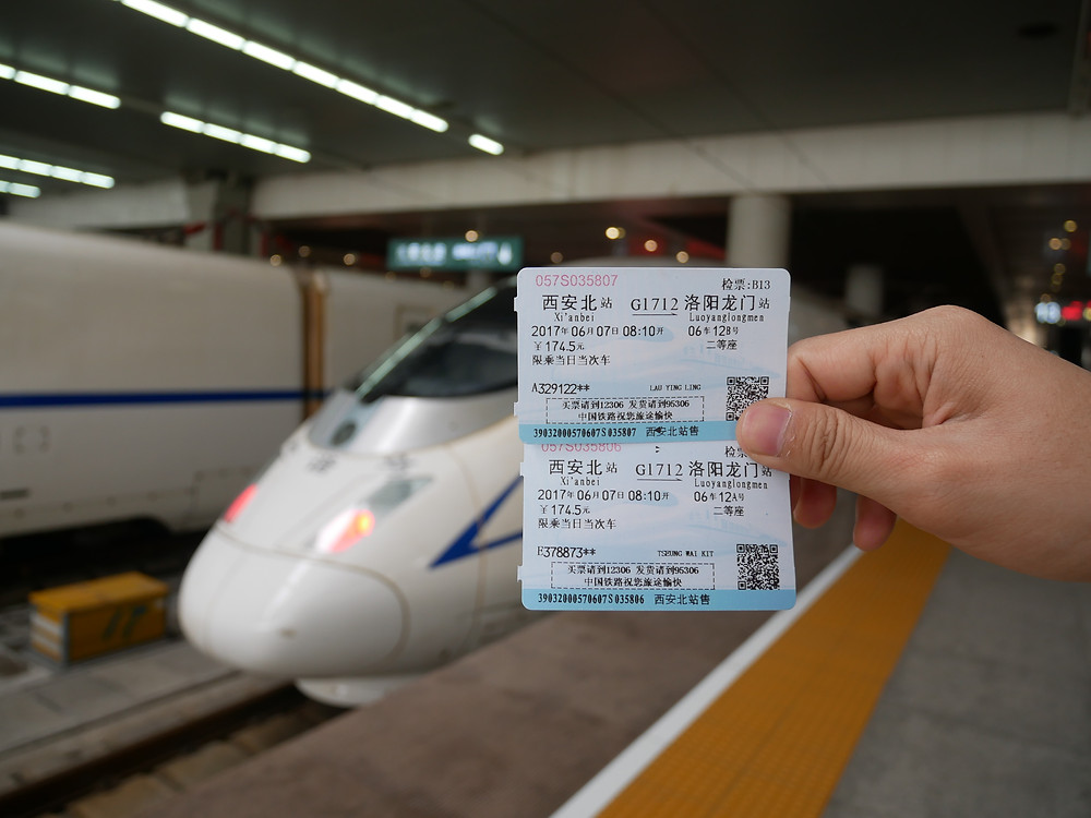 Speed Train from Xi AN to Luoyang