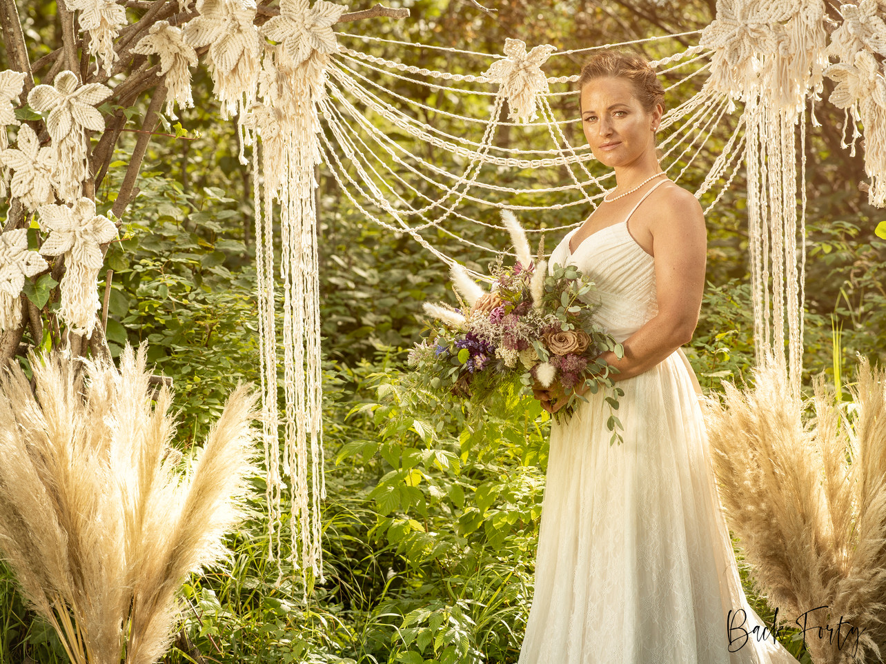 Model - Jennifer Berquist, Location - Woodland and Wildflowers Wedding Venue