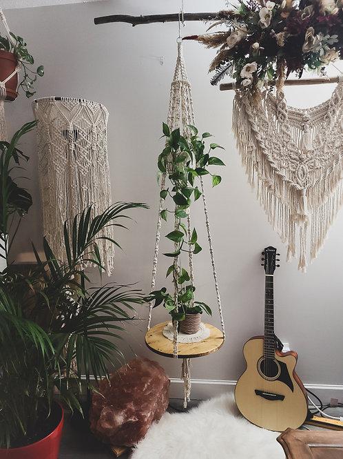 Macrame Plant Hanger/Shelf