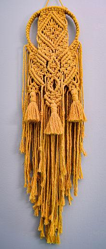 Mustard Macrame Dreamer, Cotton
