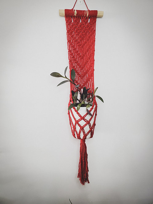 Red Wall Mount Plant Hanger