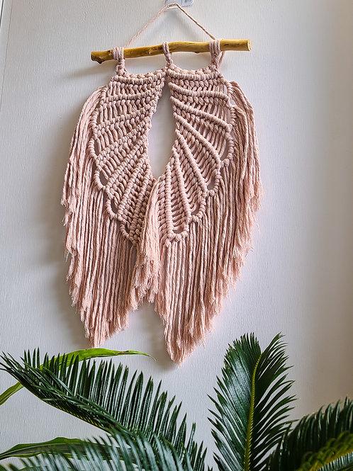 Vintage Rose - Macrame Angel Wings