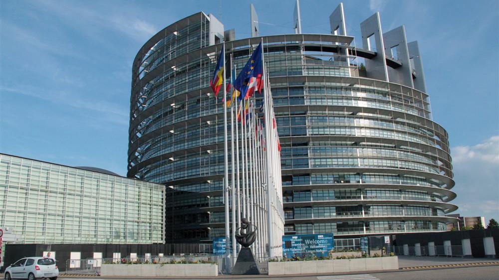 位于法国斯特拉斯堡的欧洲议会大厦。(图片来源:中新社)