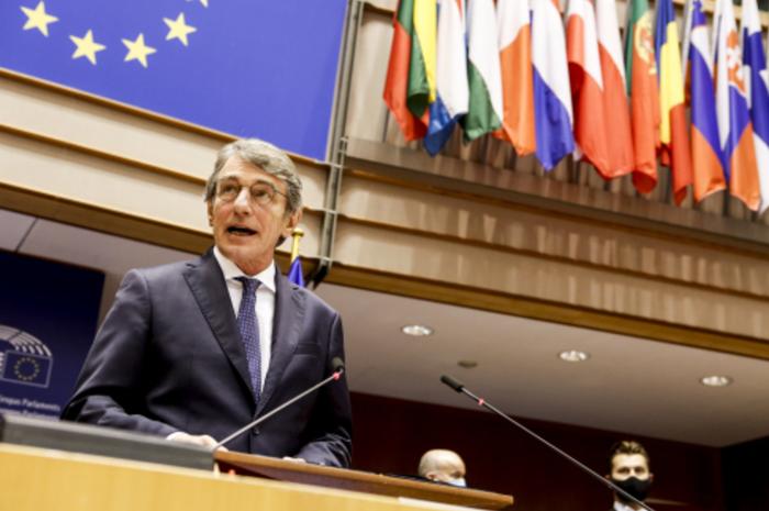 欧洲议会议长萨索利。(图片来源:新华社)