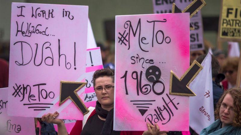 全球#MeToo运动在好莱坞电影制片人哈维·韦恩斯坦(Harvey Weinstein)被控性侵后开始