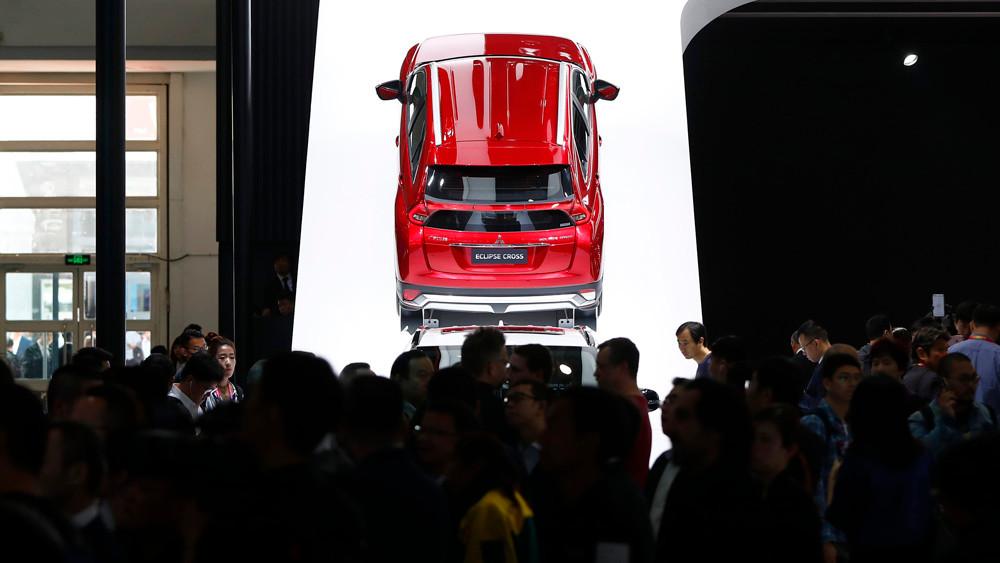 图为三菱全新轿跑SUV车型。(图片来源:中新社)