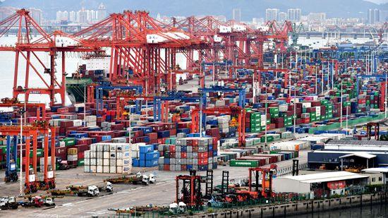 图为福建省厦门市东渡港。(图片来源:中新社)