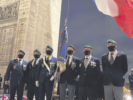 疫情当前口罩也成时尚品 旅法侨胞为退伍军人定制口罩