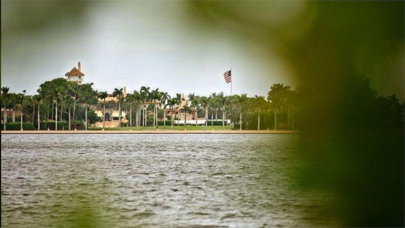 """位于佛罗里达州的海湖庄园被特朗普团队称为""""冬天的白宫"""""""
