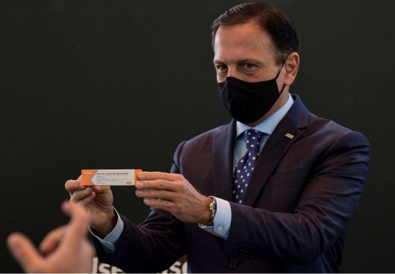 多里亚此前曾积极宣传中国科兴的实验性疫苗,宣布计划用它为圣保罗居民进行接种。