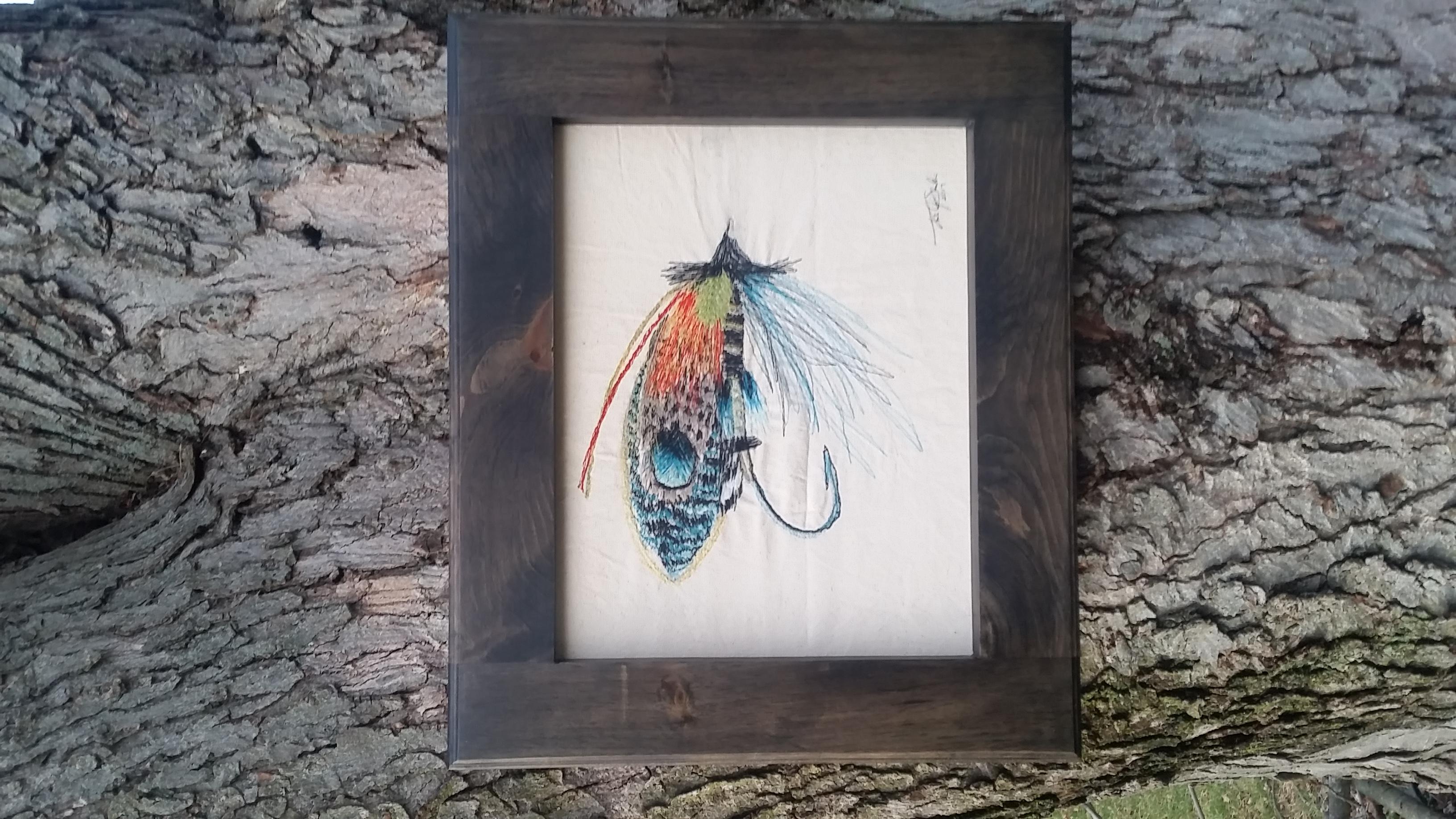 Fishing Lure Thread Painting 2