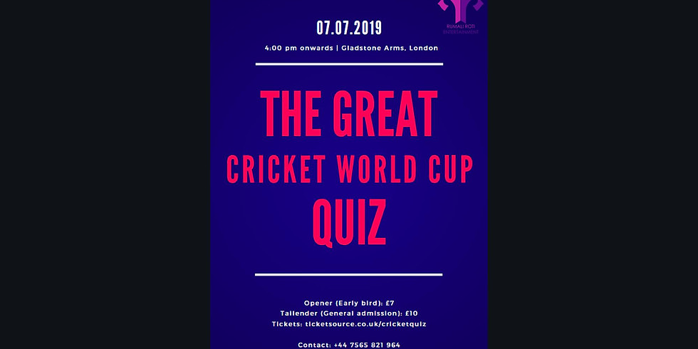 The Great Cricket World Cup Quiz