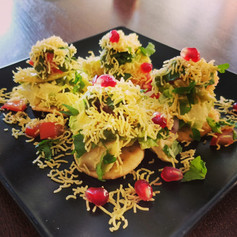 Avocado papri chaat