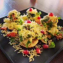 Avocado papri chaat