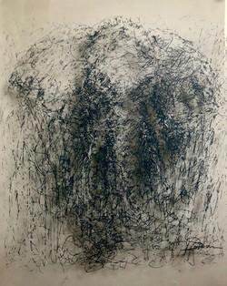 Glass art Elephant