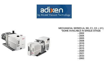 Alcatel Adixen 2002 2004 2005 2008 2010 2012 2015 2020 2021 2033 2063 A SD CP C1 C2 I