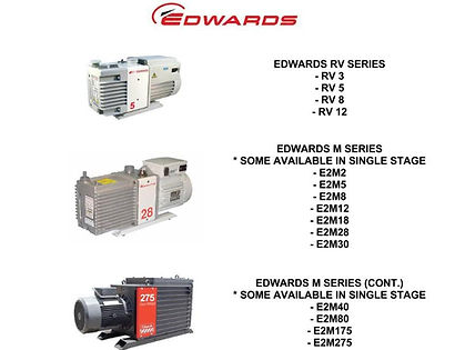 Edwards RV 3 5 8 12 E2M 2 5 8 12 18 28 30 40 80 175 275