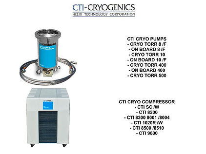 CTI Cryogenics CRYO TORR ON BOARD COMPRESSOR