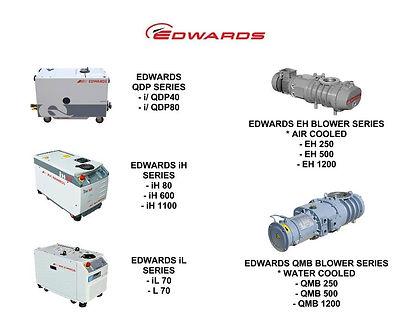 Edwards IQDP QDP 40 80 QMB EH 250 500 1200 IH 80 600 1100 IL 70