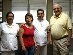Rotarian Bob Hobbs & Kitchen Staff