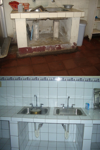 Hospital Kitchen Sink Area