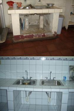 Hospital Kitchen Sink Area