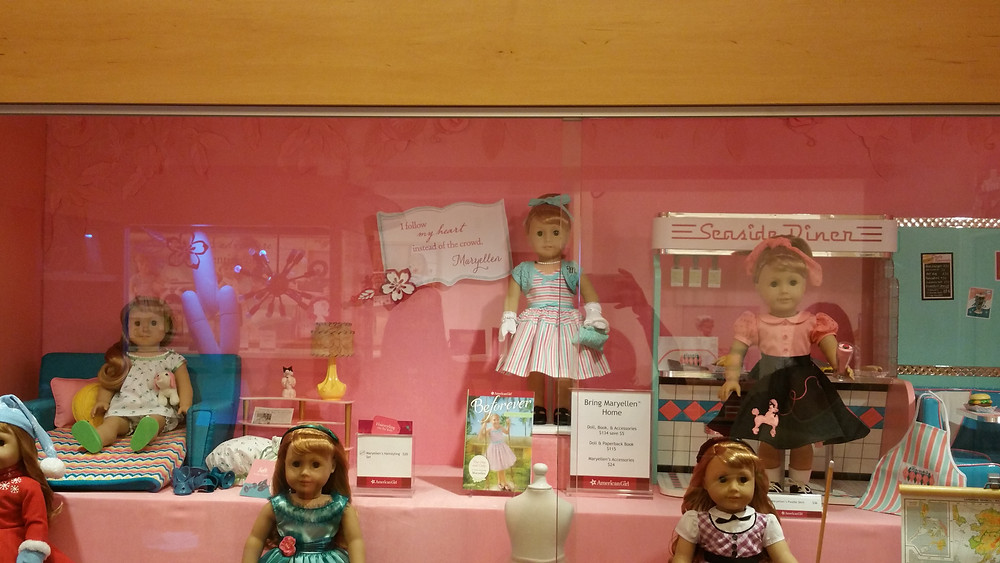 Mary Ellen American Girl historical doll room at American Girl store Los Angeles