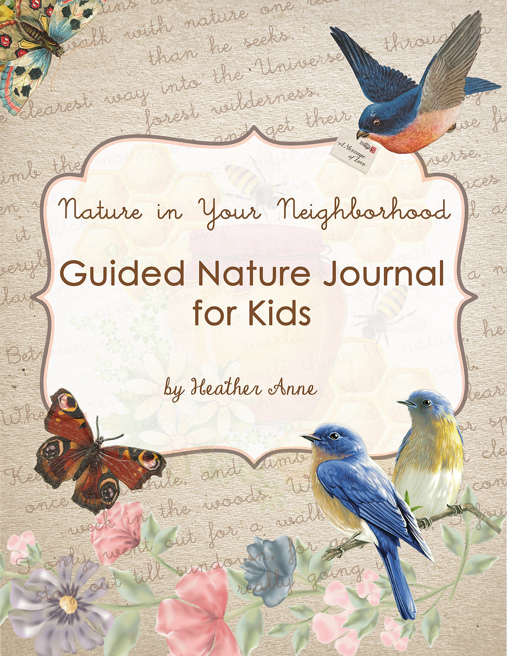Printable nature journal download digital ebook for homeschooling nature study