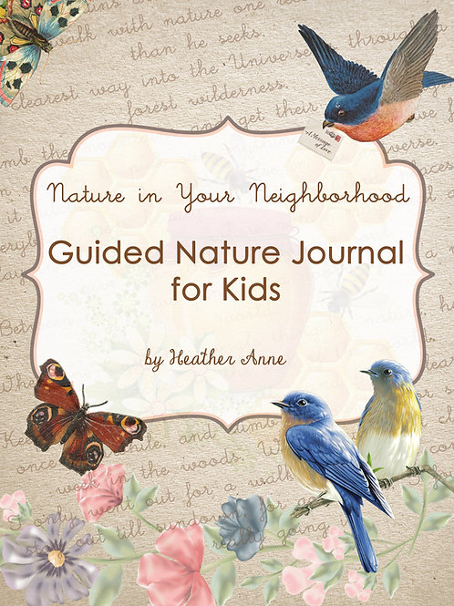 Guided Nature Journal for Kids DIGITAL DOWNLOAD for Nature Study
