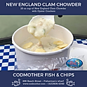 Cup of New England Clam Chowder