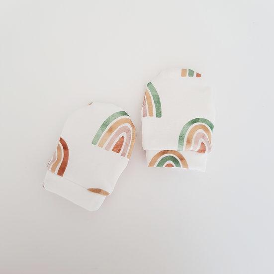 Rainbow Baby Mittens