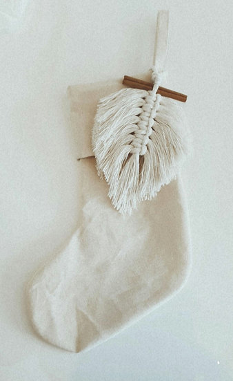 Christmas Boho Stocking ~ pre-order