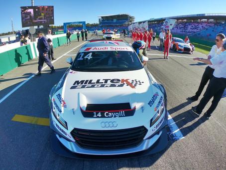 TOP SIX IN AUDI SPORT TT CUP FINALE FOR MILLTEK SPORT RACER CAYGILL