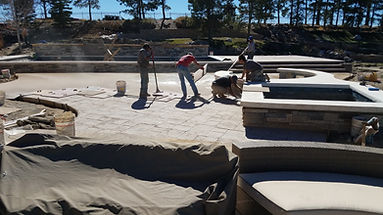 Landscape labor on pool project