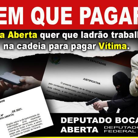 Projeto de Boca Aberta quer que criminoso reembolse as vítimas de furtos e assaltos