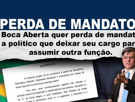Boca Aberta quer perda de mandato a político que deixar seu cargo para assumir outra função