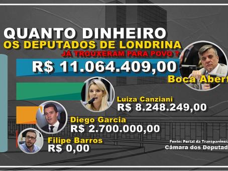 Boca Aberta é o deputado de Londrina que mais trouxe dinheiro para  Povo