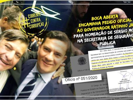 Bocas Abertas querem Sérgio Moro na Secretaria de Segurança do Paraná