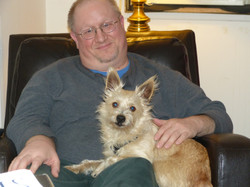 ginger and her new dad.JPG