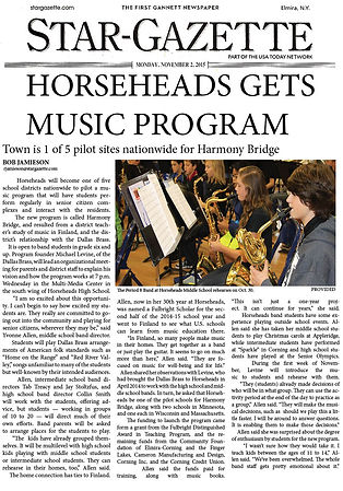 Star-Gazette, Horseheads Gets Music Program