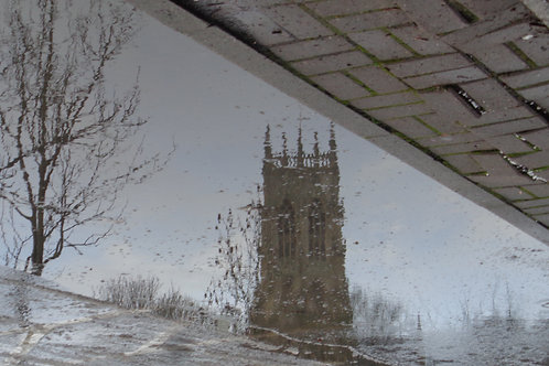 The Minster in a puddle Doncaster east side of B&M - DAVID WILLIAMS