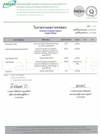 Nutritional Report from Jivaka capsule*2