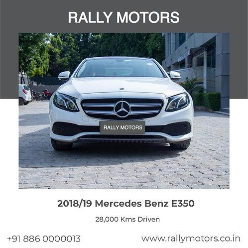 2018/19 Mercedes Benz E350