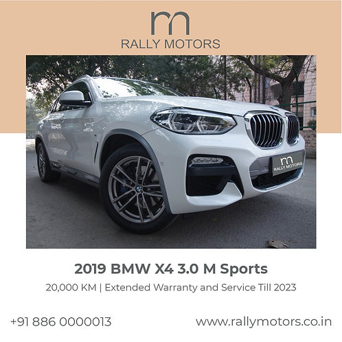 2019 BMW x4 3.0 M Sports