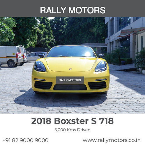 2018 Porsche Boxter S 718