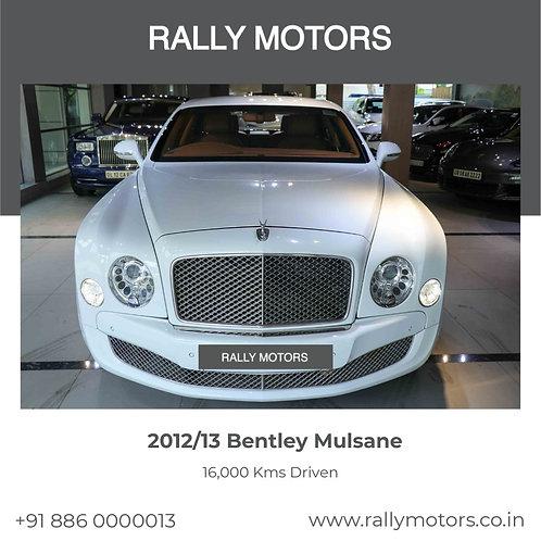 2012/13 Bentley Mulsane